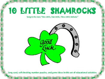 10 Little Shamrock Song and Number/Number Word Flashcards