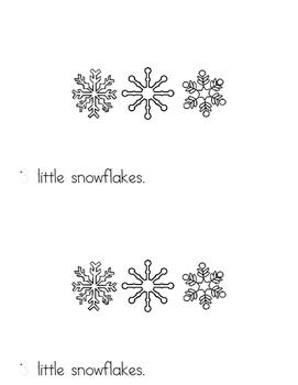 10 Little Snowflakes - emergent readers