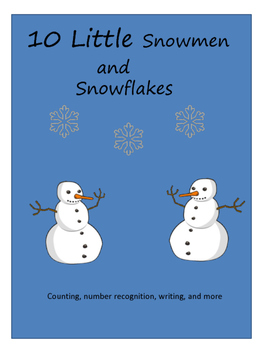10 Little Snowman and Snowflake Math Activities