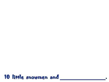 10 Little Snowmen Class Book and Student Book for Winter