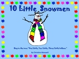 10 Little Snowmen Class Book and Student Book for Winter