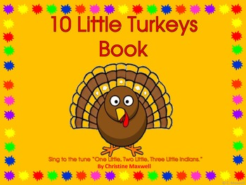 10 Little Turkeys Class Book and Student Book for Thanksgiving