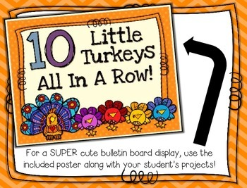 10 Little Turkeys --- Turkey Number Order Craftivity ***FREEBIE***