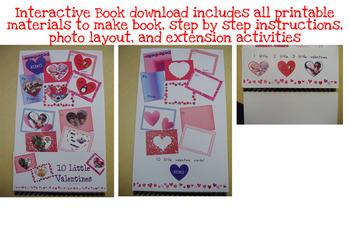 10 Little Valentines - Shared Reading Interactive Book - Printable