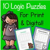 10 Logic Puzzles Print & Google Paperless! Critical Thinking