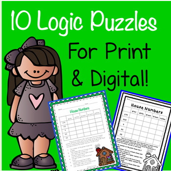 10 Logic Puzzles Print & Google Paperless! Critical Thinking