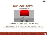 10. Low-Level Control
