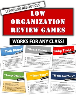 Fun Active Games: 10 Low Organization Games - Works for any class!