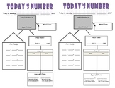 """10 MINUTE MATH ROUTINE- """"Today's Number"""""""