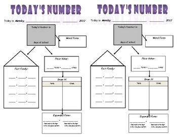 "10 MINUTE MATH ROUTINE- ""Today's Number"""