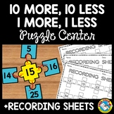 HUNDREDS CHART ACTIVITY FIRST GRADE (10 MORE 10 LESS WITH RECORDING SHEETS)