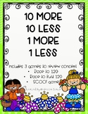 10 MORE 10 LESS 1 MORE 1 LESS Math Stations