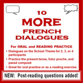 10 MORE French Dialogues for Reading and Speaking Practice