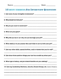 10 MOST COMMON JOB INTERVIEW QUESTIONS