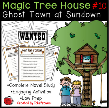 #10 Magic Tree House - Ghost Town at Sundown Novel Study