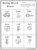 10 Making Nouns Plural Printable Worksheets in PDF file.1s