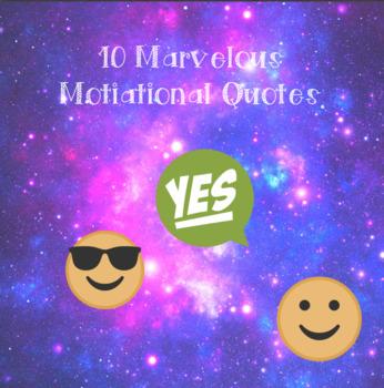10 Marvellous Motivational Quotes -Watercolour-