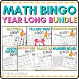 10 Math BINGO games:  time, place value, fractions, addition, subtraction, money