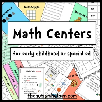 10 Math Centers for Special Education