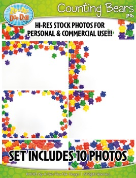 10 Math Counting Bears Stock Photos Pack — Includes Commercial License!