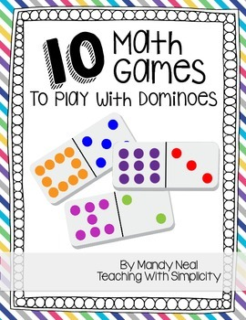10 math games to play with dominoes by mandy neal tpt. Black Bedroom Furniture Sets. Home Design Ideas