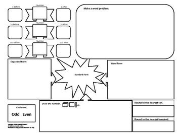 10 Math Graphic Organizers: Word Problems, Vocabulary, Place Value, Regrouping