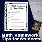 10 Math Homework Tips & Tricks