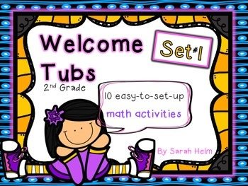 Welcome Tubs--10 Math Stations {Set #1} 2nd grade