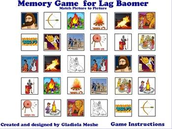 10 Memory Game for Lag Baomer photo to photo English