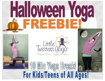 10-Min Halloween Yoga Break Freebie! All Ages