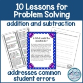 Word Problem Solving 10 Lessons to Address Common Student Errors
