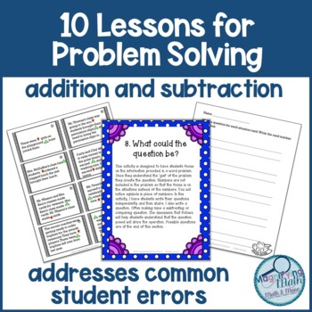 10 Lessons for Addition and Subtraction Word Problem Solving