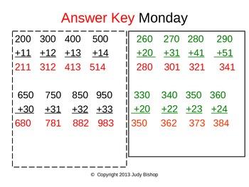 10+ Minute Bellwork grades 2-4