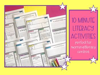 10 Minute Literacy Activities
