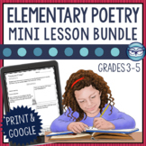 10 Minute Poetry Mini Lessons: Reading Comprehension and Creative Writing