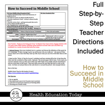 10-Minute Teen Topics Series FREE!: How to Succeed in Middle School