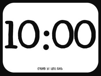 10 minute timer for powerpoint by creative teacher mama tpt