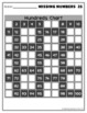 10 Missing Number Patterns 100s Chart Worksheets