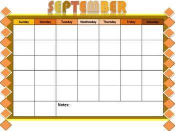 10 Month Calendar