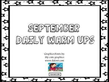 10 Months of Daily Warm Ups for Kindergarten