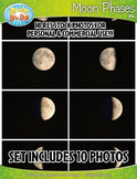 10 Moon Phases Cycle Stock Photos Pack — Includes Commercial License!
