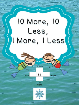 10 More, 10 Less, 1 More, 1 Less Sorting Activity