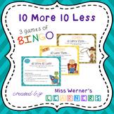 10 More 10 Less Bingo