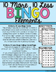 10 More, 10 Less Bingo-Add & Subtract 10 to & from Double-Digit Numbers