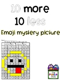 10 More, 10 Less Emoji Mystery Picture
