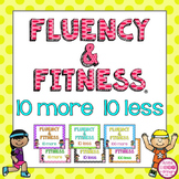 10 More 10 Less Fluency & Fitness Brain Breaks Bundle