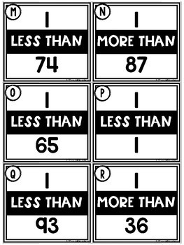 1 More / 1 Less Less Task Cards {2 Digit Numbers}