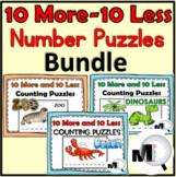 10 More & 10 Less Number Puzzles Bundle