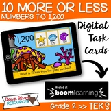 10 More 10 Less - Numbers up to 1,200 Boom Cards (Second Grade TEKS)