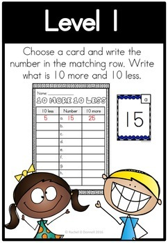 Math Center 10 More 10 Less